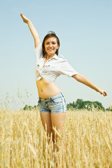 girl  in  at cereals field