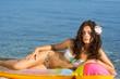 Bikini girl with inflatable
