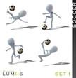 Lumiis 3D-Figuren weiss Fussball Set 1