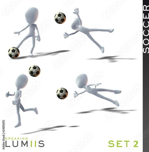 Lumiis 3D-Figuren weiss Fussball Set 2