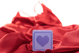 toy purple love heart on silk nightie