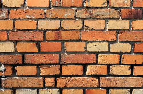 red orange brick wall