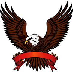 Hawk with emblem