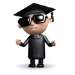 3d Graduate looking cool