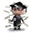 3d Graduate hits paydirt
