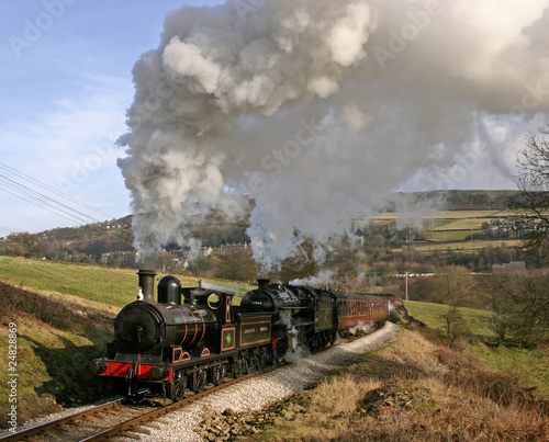 Steaming towards Oakworth in Bronte country