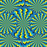 Zigzag Wheelies (motion illusion) poster
