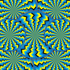 Zigzag Wheelies (motion illusion)