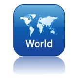 WORLD Web Button (map  international global travel worldwide go) poster
