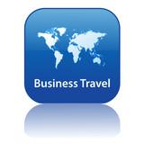 BUSINESS TRAVEL Button (world map global worldwide international poster