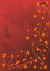 Sfondo Foglie Autunno-Autumn Leaves Background-2-Vector