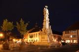 colonne de la peste à budapest la nuit poster