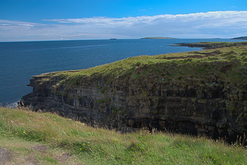 Rocks and cliffs at Orkney islands - HDR image