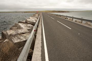 Breakwater blocks at Churchill barriers, Orkneys