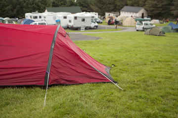 Tent in a camping site