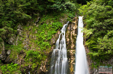 Urlatoarea Waterfall in Carpathian Mountains