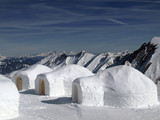 Three igloos in the mountains, Kitzsteinhorn