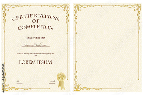 Certificate of Completion Template