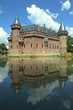 de haar castle in Utrecht with reflections