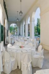 Banchetto di nozze in villa