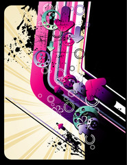 composicion abstract en vector