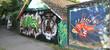Fototapete Fassade - Bejahrt - Graffiti