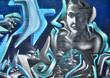 Fototapete Feminist - Blick - Graffiti