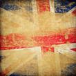 Quadro England grunge flag background.