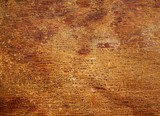 Wood texture with the old cracked varnish surface. poster