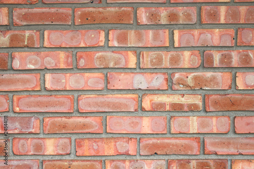 Bright Red Brick Background