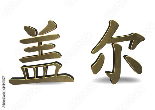 Gail - Chinese Character Symbol isolated on white