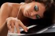 Beautiful lady piano player