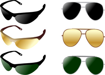 modern and retro sunglases
