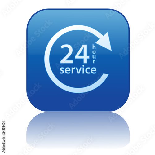 24 HOUR SERVICE Web Button (7 days opening hours duty customer)