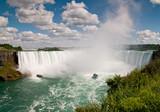 Small boat below Niagara Falls
