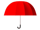 3d rendered red umbrella