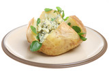 Baked Potato with Stilton Cheese