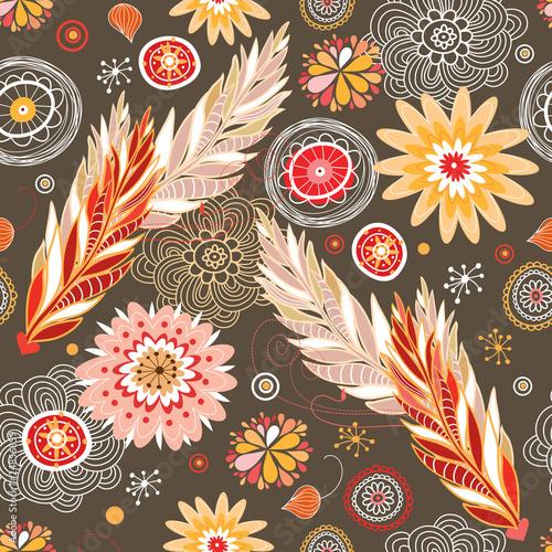 Autumn floral patterns