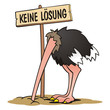 Leinwanddruck Bild - Ostrich No Solution