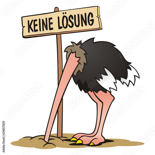 Leinwanddruck Bild Ostrich No Solution