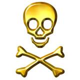 3D Golden Crossbones poster