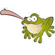 frosch kröte cartoon fliege lustig