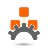netzwerk administration symbol zeichen icon poster