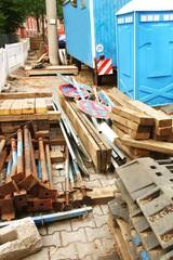 Baustelle auf dem Gehweg