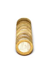 eine Reihe Münzgeld