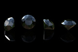 Round black sapphire poster