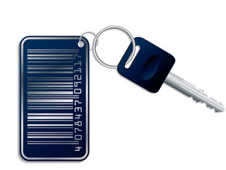 Key with bar-code access