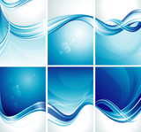Fototapety Set of simple abstract blue background.