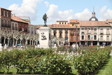 Fototapety Cervantes square in Alcala de Henares  Madrid province Spain