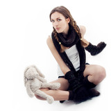 The  girl with a plush hare poster